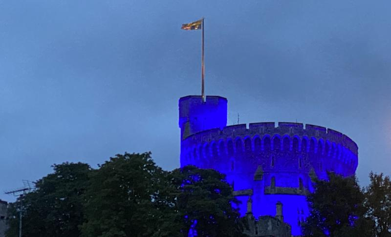 Windsor Castle is one of the landmarks around the UK that will turn blue on Saturday night