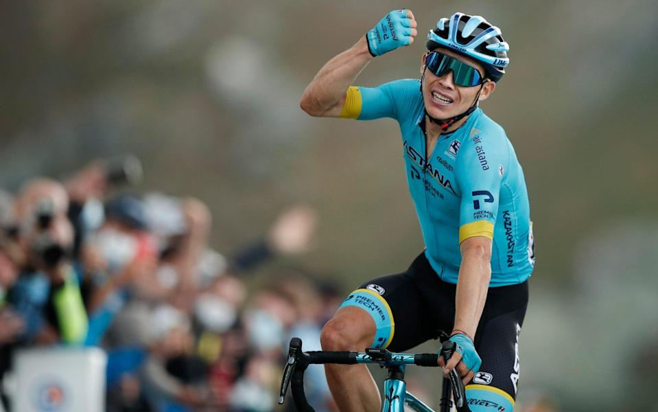 Miguel Ángel López -Miguel Angel Lopez hits out to claim Tour de France stage as Primoz Roglic tightens grip on yellow - REUTERS