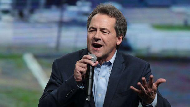 PHOTO: Democratic presidential candidate Montana Gov. Steve Bullock speaks at the Liberty and Justice Celebration at the Wells Fargo Arena on Nov. 1, 2019, in Des Moines, Iowa. (Scott Olson/Getty Images)