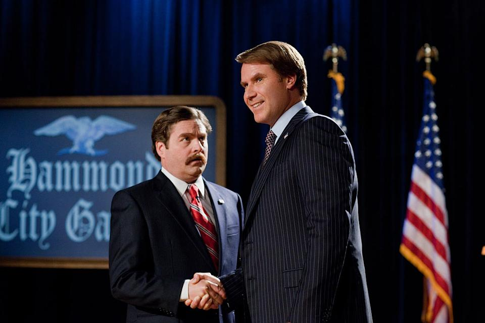 """Zach Galifinaikis and Will Ferrell in Warner Bros. Pictures' """"The Campaign"""" - 2012"""