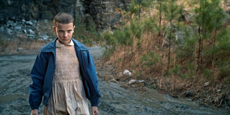 Millie Bobby Brown as Eleven in 'Stranger Things' (Credit: Netflix)