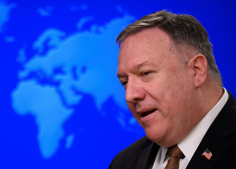 US Secretary of State Mike Pompeo criticised both China and the WHO (AFP Photo/ANDREW CABALLERO-REYNOLDS)