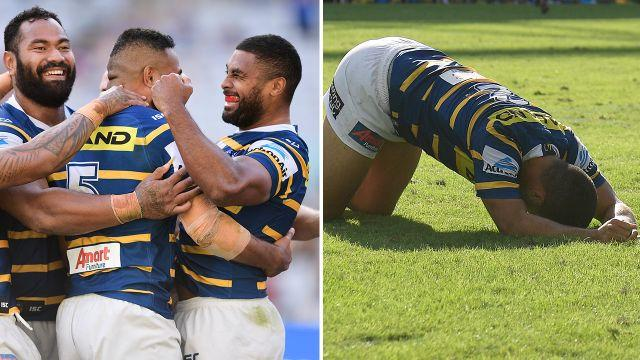 The Eels finally won but lost Hayne. Image: Getty