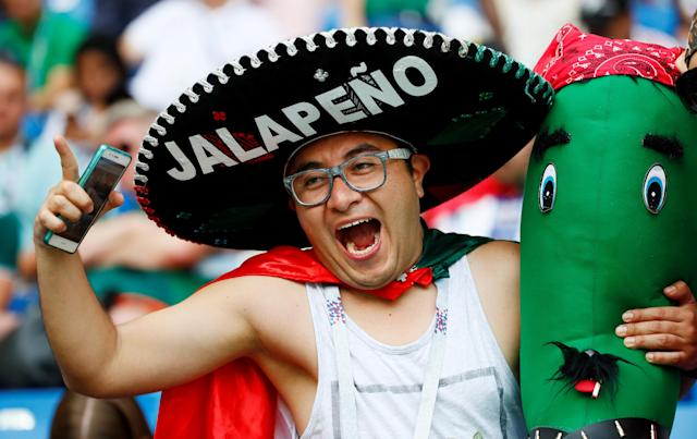 Soccer Football - World Cup - Group F - South Korea vs Mexico - Rostov Arena, Rostov-on-Don, Russia - June 23, 2018 Mexico fan before the match REUTERS/Jason Cairnduff