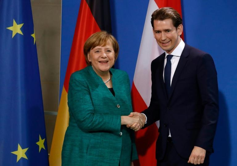 German Chancellor Angela Merkel and Austria's new Chancellor Sebastian Kurz stressed the 'close cooperation' between the two nations