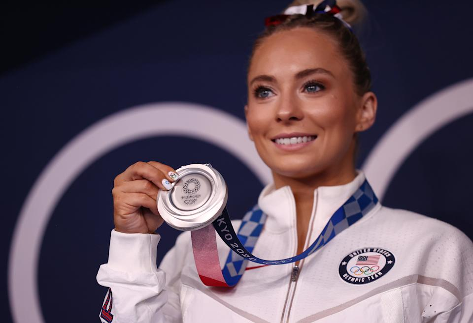 Mykayla Skinner's silver medal means a ton to her considering the circumstances. (Photo by Maja Hitij/Getty Images)