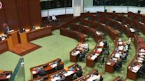 Hong Kong's legislature, without pro-democracy lawmakers