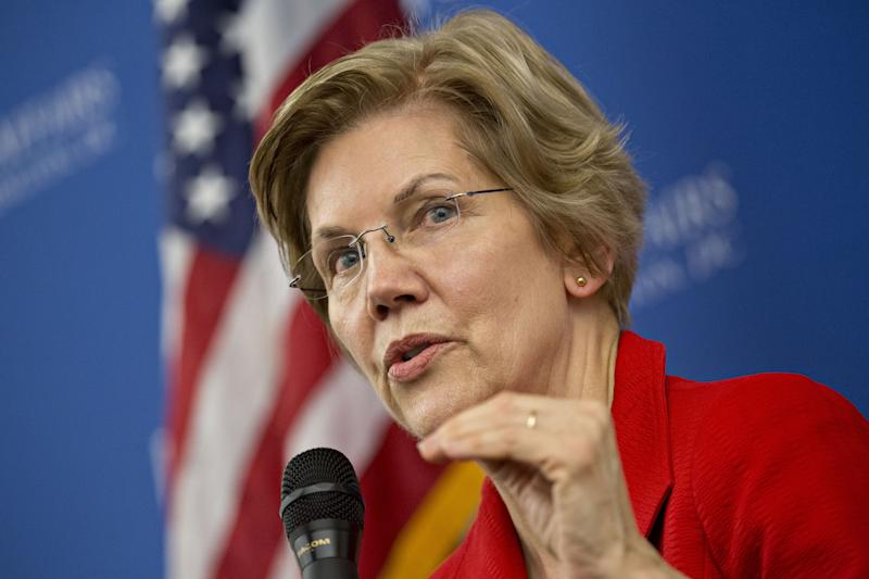 Senator Elizabeth Warren (D-Mass.) was among the first Democrats to move toward challenging President Donald Trump.