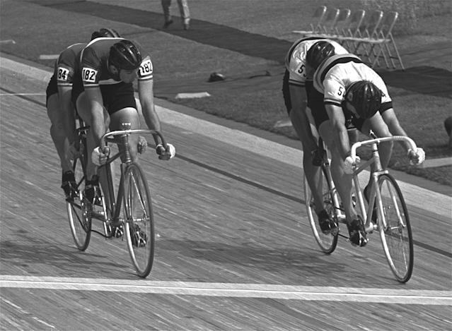 The tandem race was a mainstay at the Games from 1908 to 1972, but now lives on as an event at the Paralympics.