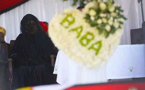 <span>Grace Mugabe had claimed that her late husband did not want to be interred at Heroes Acre, the burial ground and national monument which also holds the grave of his first wife, Sally</span> <span>Credit: Tsvangirayi Mukwazhi/AP </span>