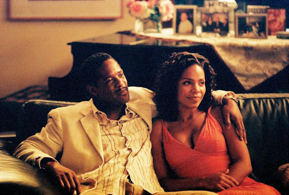 <strong><em><h3>Something New </h3></em></strong><h3>(2006)<br></h3><br>For the past few years, Kenya McQueen (Sanaa Lathan) has been focused on furthering her career, not on love. Her friend sets her up with an architect, Brian (Simon Baker) — but Kenya balks when she finds out he's white. She runs into Brian later on, and a relationship develops despite Kenya's hesitation. Then, another man comes into Kenya's life: Mark Harper (Blair Underwood), who's everything she'd envision for herself. This is a far smarter love triangle movie than most you've seen before.