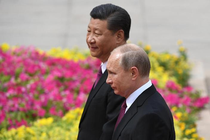 The most powerful Russian and Chinese leaders in decades, Xi and Putin have built closer ties as US President Donald Trump has labelled both countries as economic rivals that challenge US interests and values (AFP Photo/Greg BAKER)