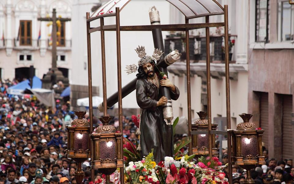 The Grand Finale of Easter celebrations in Quito - Getty
