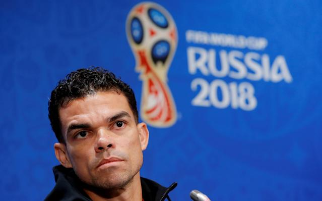 Soccer Football - World Cup - Portugal Press Conference - Luzhniki Stadium, Moscow, Russia - June 19, 2018 Portugal's Pepe during the press conference REUTERS/Sergei Karpukhin