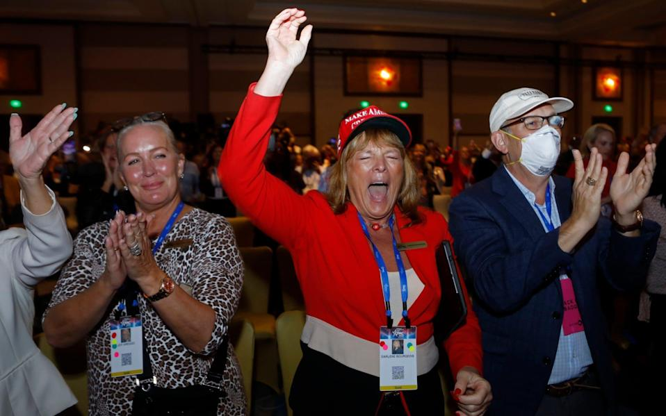 Supporters at the conference in Orlando - REUTERS