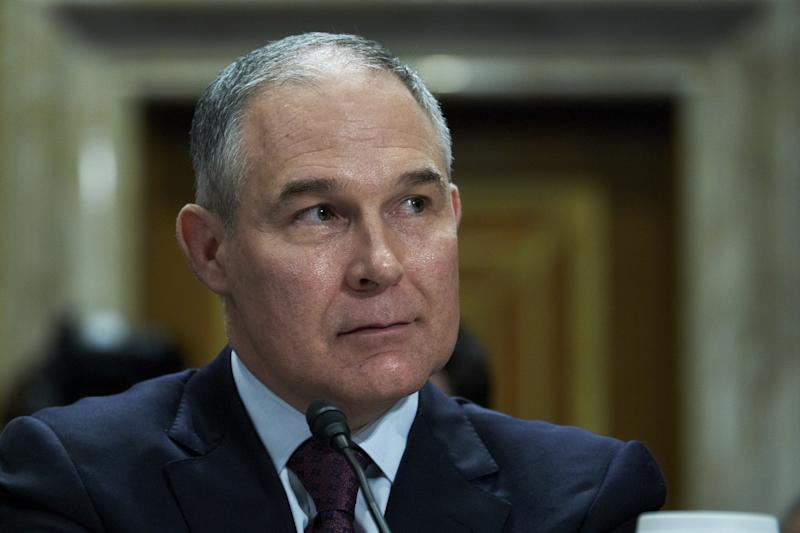 EPA Administrator Scott Pruitt proposeda new water rule amid a firestorm of scandals. (Bloomberg via Getty Images)