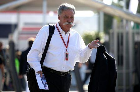 FILE PHOTO: Formula One - F1 - Italian Grand Prix 2017 - Monza, Italy - September 3, 2017. F1 chairman Chase Carey arrives before the race. REUTERS/Max Rossi