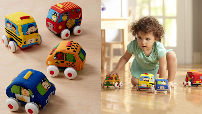 Gifts for kids: Melissa & Doug Pull-Back Vehicles