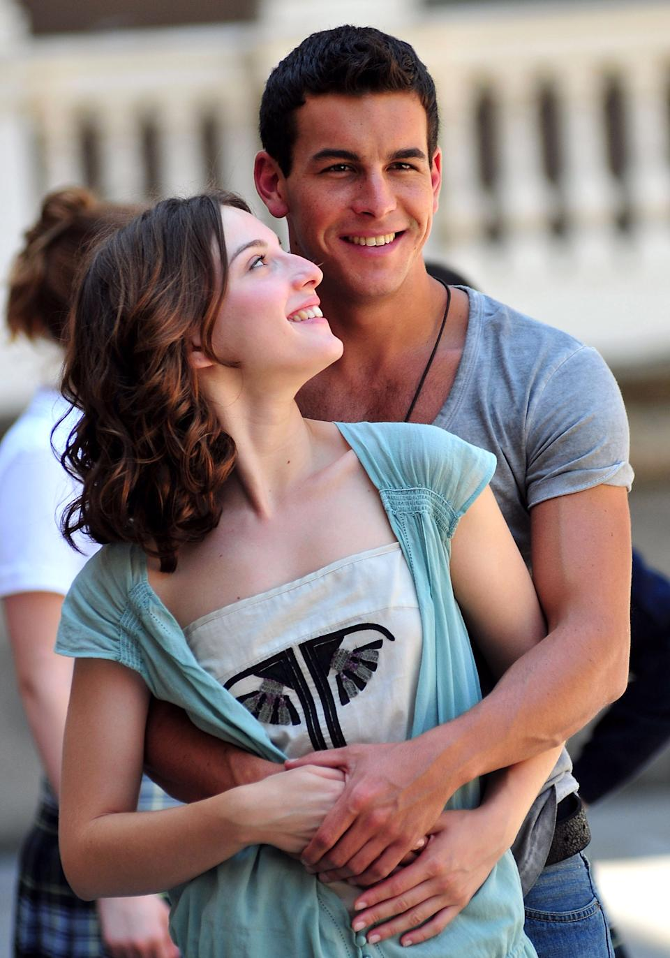 BARCELONA, SPAIN - JULY 01:  Actors Mario Casas and Maria Valverde pose during a photocall on the set of their latest film 'Tres Metros Sobre el Cielo' on July 1, 2010 in Barcelona, Spain.  (Photo by Robert Marquardt/Getty Images)