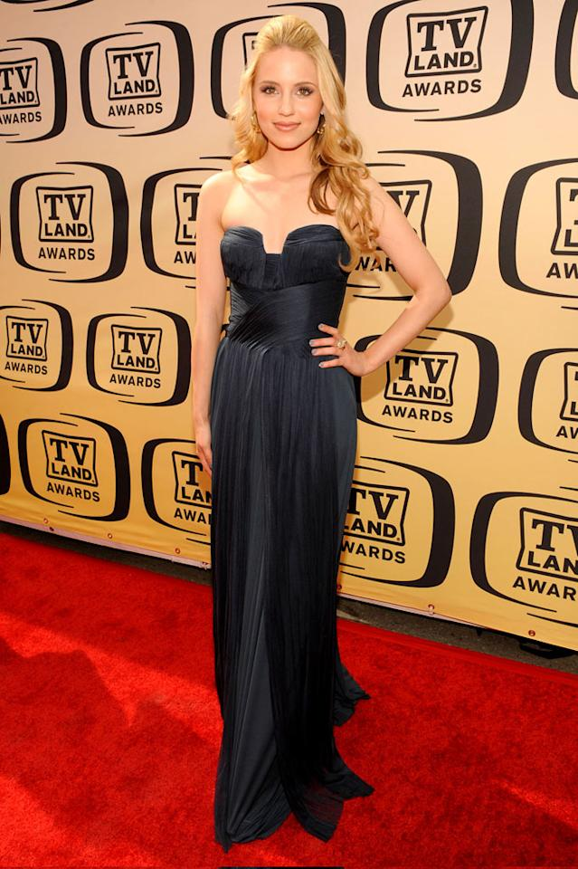 """Dianna Agron (""""Glee"""") arrives at the <a href=""""/the-8th-annual-tv-land-awards/show/46258"""">8th Annual TV Land Awards</a> held at Sony Studios on April 17, 2010 in Culver City, California. The show is set to air Sunday, 4/25 at 9pm on TV Land."""