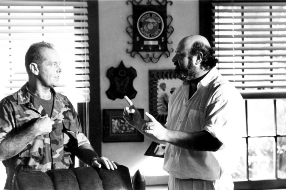 Jack Nicholson and Rob Reiner on the set of <em>A Few Good Men</em> in 1992 (Photo: Columbia/Courtesy Everett Collection)