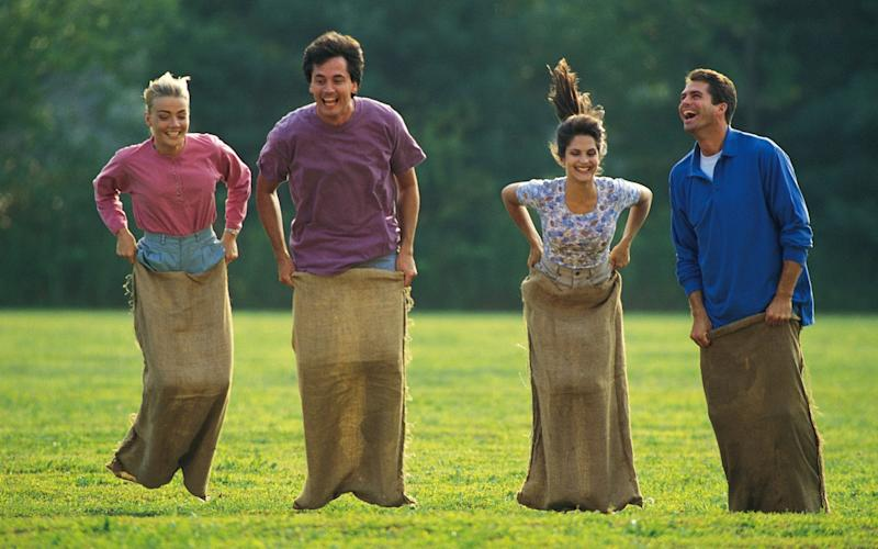 Sack race? Oh, let someone else win for a change - Stockbyte