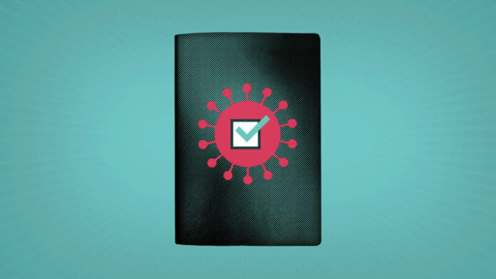 <p>What is a COVID-19 vaccine passport, and do I need one?(AP Illustration/Peter Hamlin)</p>