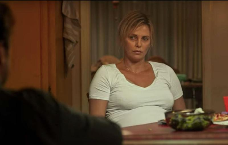Charlize Theron stars as Marlo in Tully, a relatable exhausted mother. Source: Youtube
