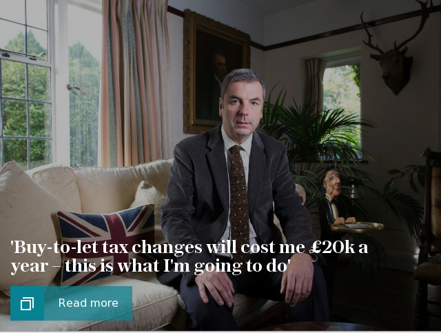 Buy-to-let tax changes will cost me £20k a year – this is what Im going to do