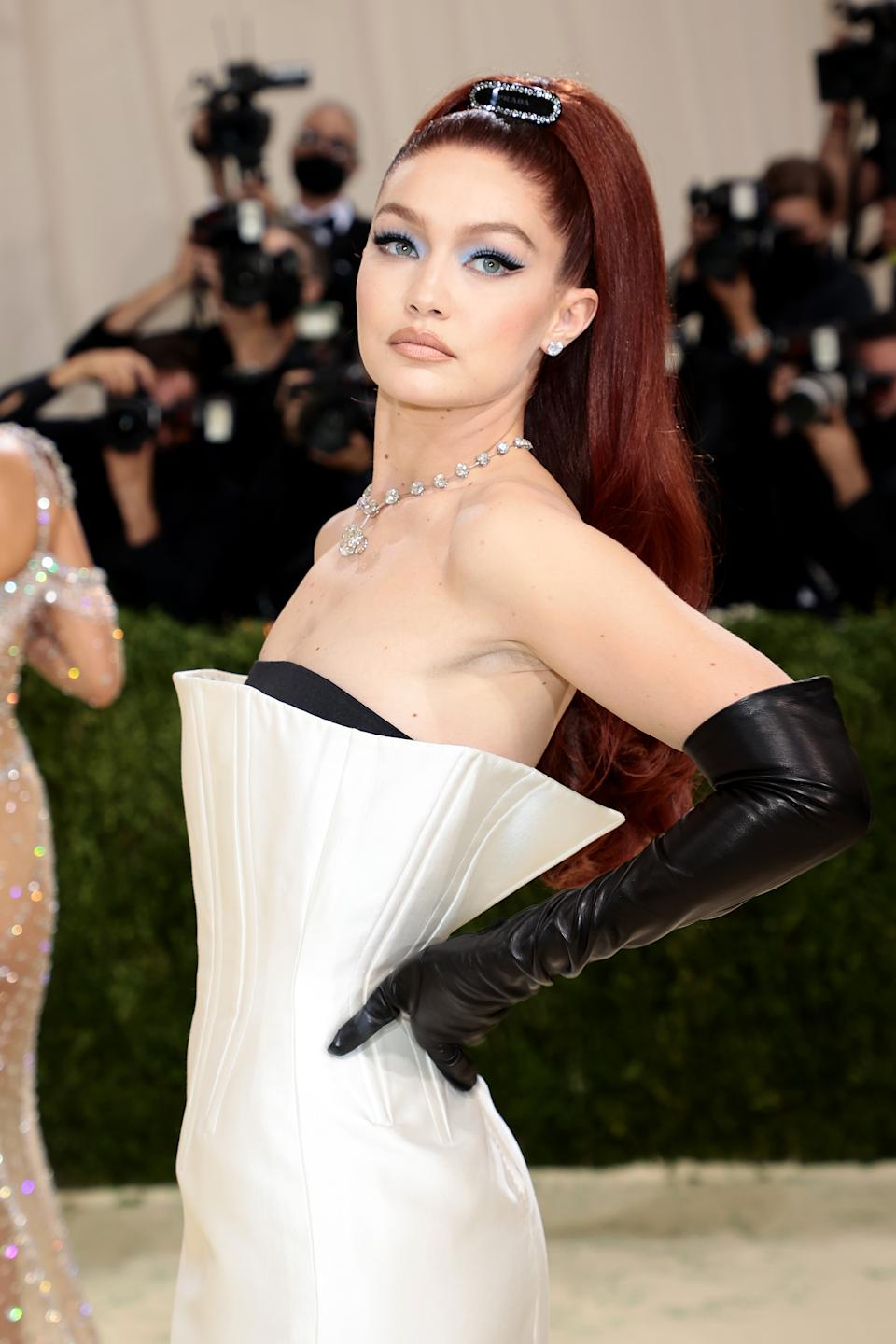 Gigi Hadid's makeup artist used Maybelline makeup products for the model's 2021 Met Gala look. (Image via Getty Images)