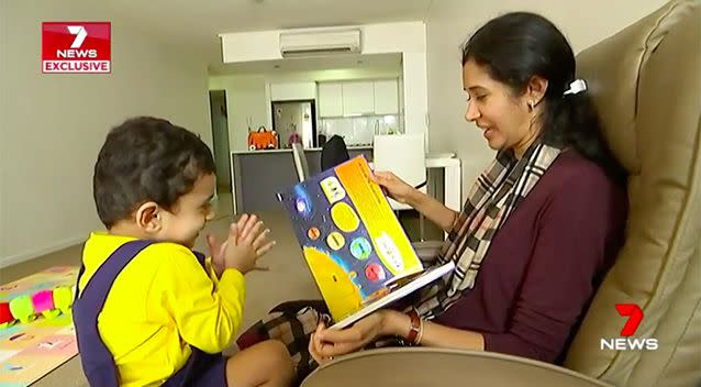 Little Karthik is only one, but he can already name 38 countries and all the planets in our solar system. Source: 7 News