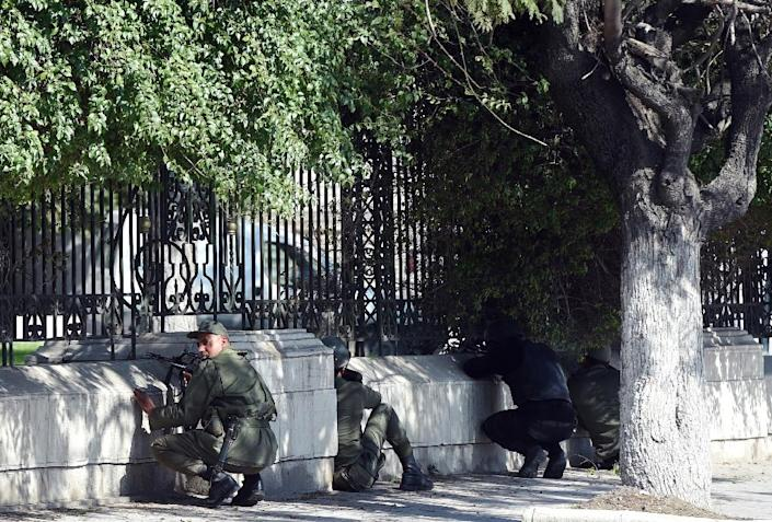 Security forces on the streets of Tunis (AFP Photo/Fethi Belaid)