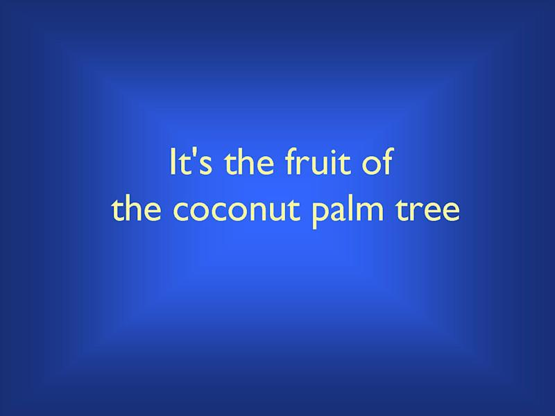 What is coconut?