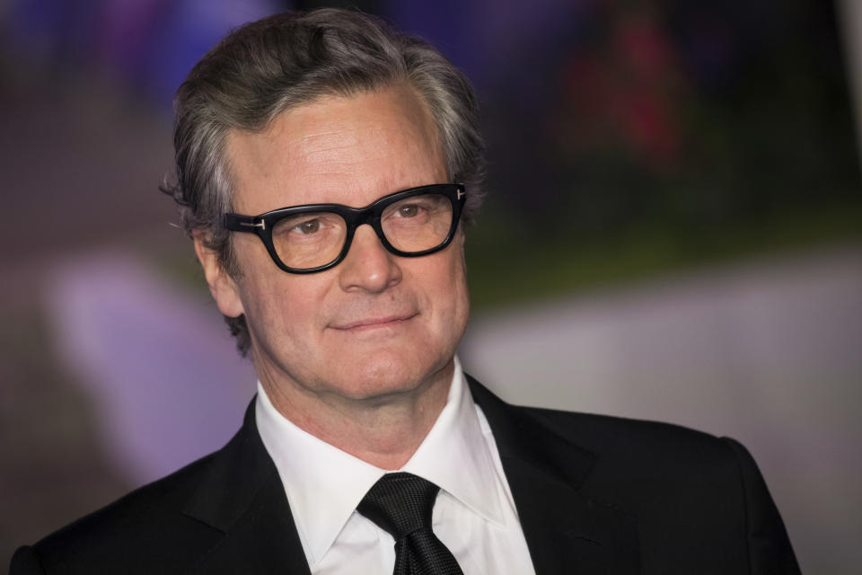 Colin Firth poses for photographers upon arrival at the 'Mary Poppins Returns' premiere in London, Wednesday, Dec. 12, 2018. (Photo by Vianney Le Caer/Invision/AP)