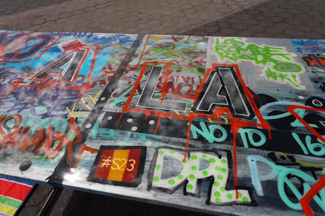 <p>Artwork created as part of the LEAP Public Art Program'€™s citywide exhibition in Union Square Park in New York City on June 5, 2018. (Photo: Gordon Donovan/Yahoo News) </p>