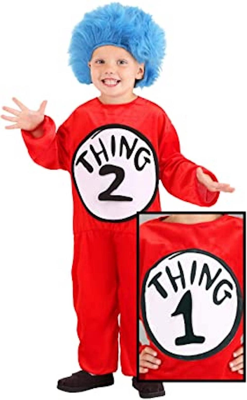 <p>Sometimes the only way to remember which twin is which is by labeling them as <span>Thing 1 and Thing 2</span> ($25).</p>