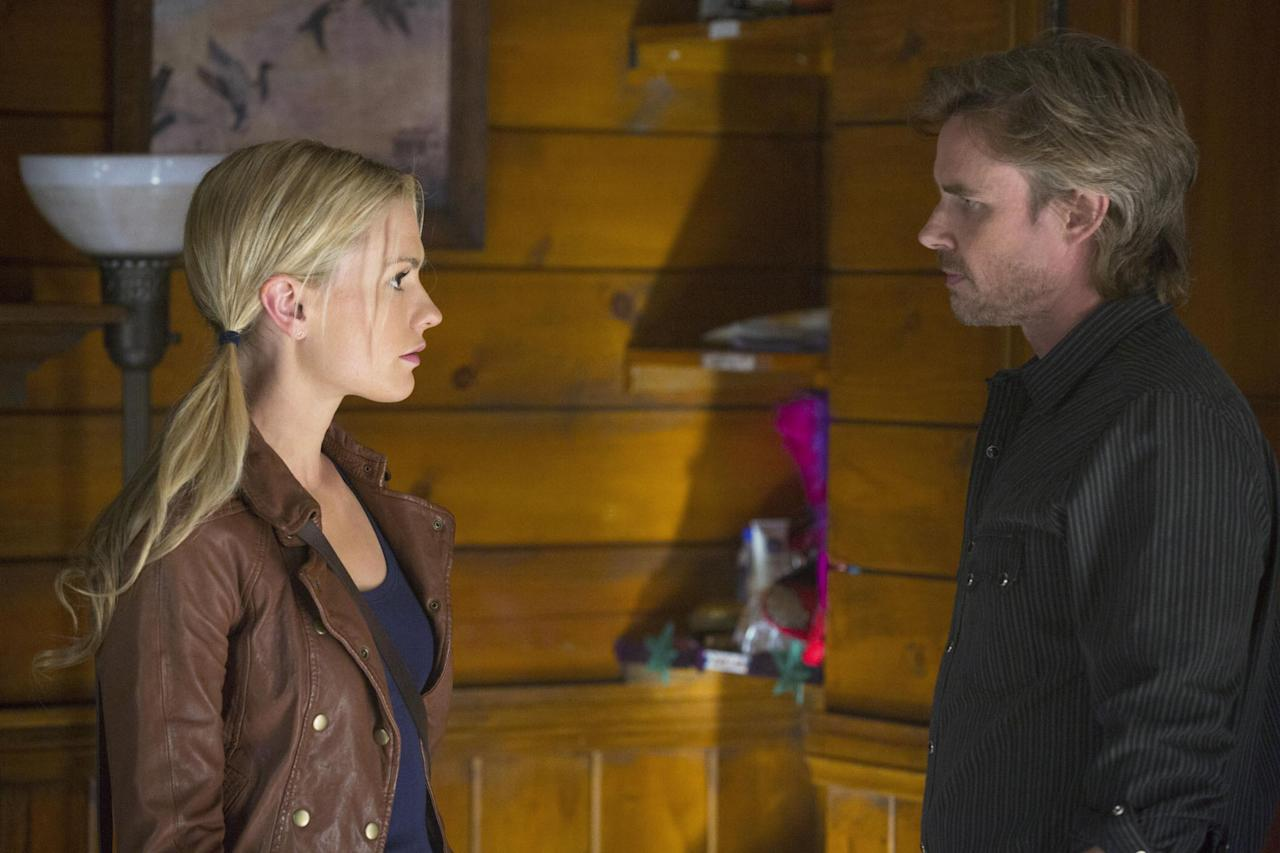 "Anna Paquin and Sam Trammell in the ""True Blood"" Season 6 episode, ""Dead Meat."""