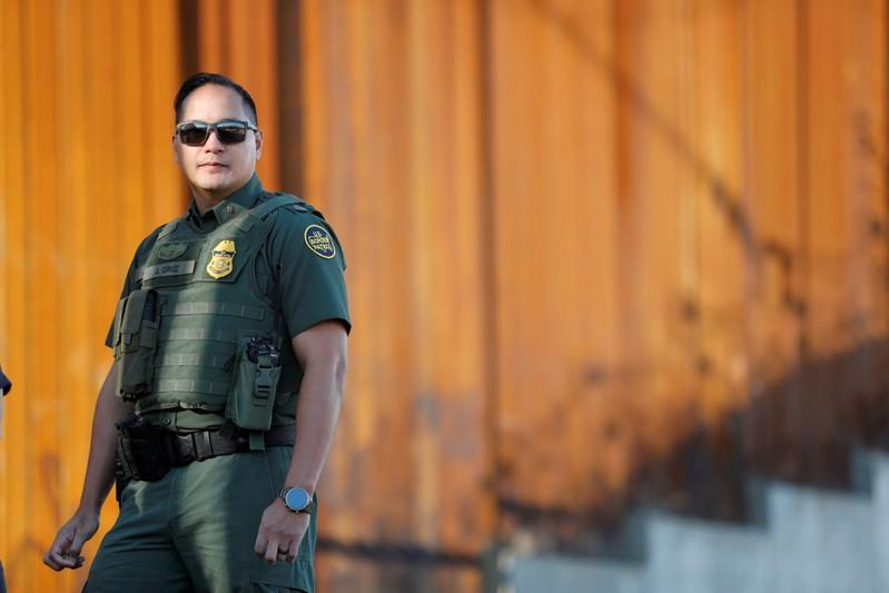 FILE PHOTO: DHS Secretary Kirstjen Hielsen visits finished section of wall at Calexico