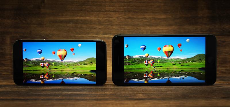 If you want the biggest display you can get on an iPhone, the 8 Plus is still the best choice (as seen on the right, next to the iPhone X).