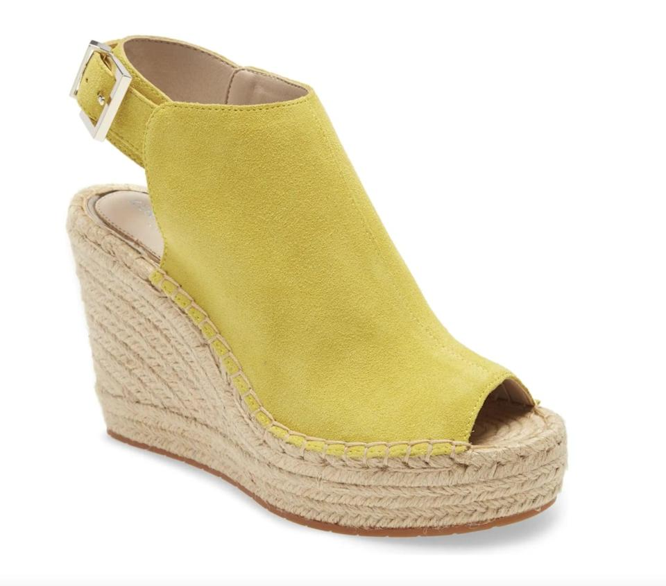<p>Add some height (and flair) to your everyday summer look with this <span>Kenneth Cole New York 'Olivia' Espadrille Wedge Sandal</span> ($89, originally $149).</p>