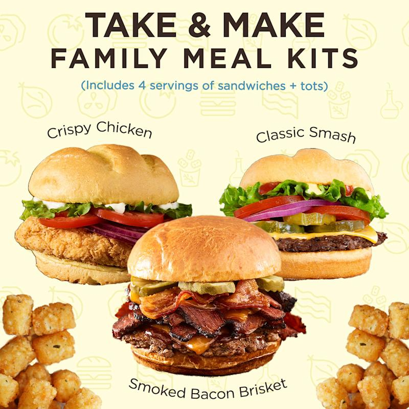 Enjoy $5 off all Smashburger meal kits throughout Memorial Day weekend. (Smashburger)