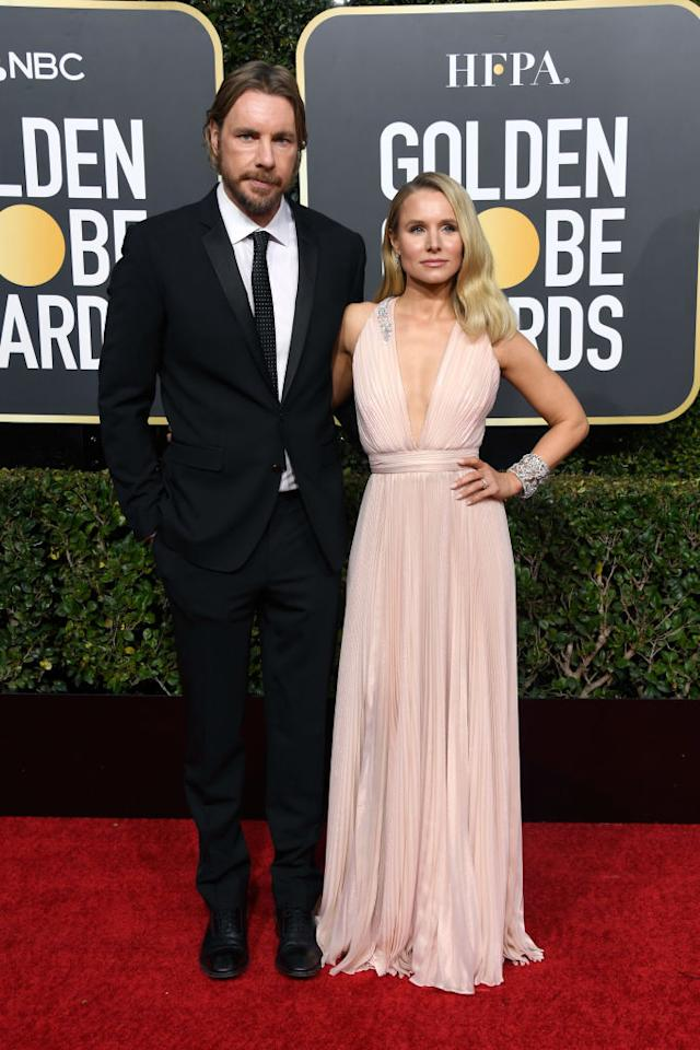 Dax Shepard and Kristen Bell attend the 76th Annual Golden Globe Awards at the Beverly Hilton Hotel in Beverly Hills, Calif., on Jan. 6, 2019. (Photo: Getty Images)