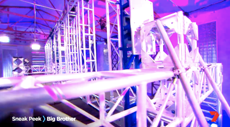 A glimpse inside the brand new Big Brother house - complete with a Ninja Warrior-style obstacle course. Photo: Channel 7.