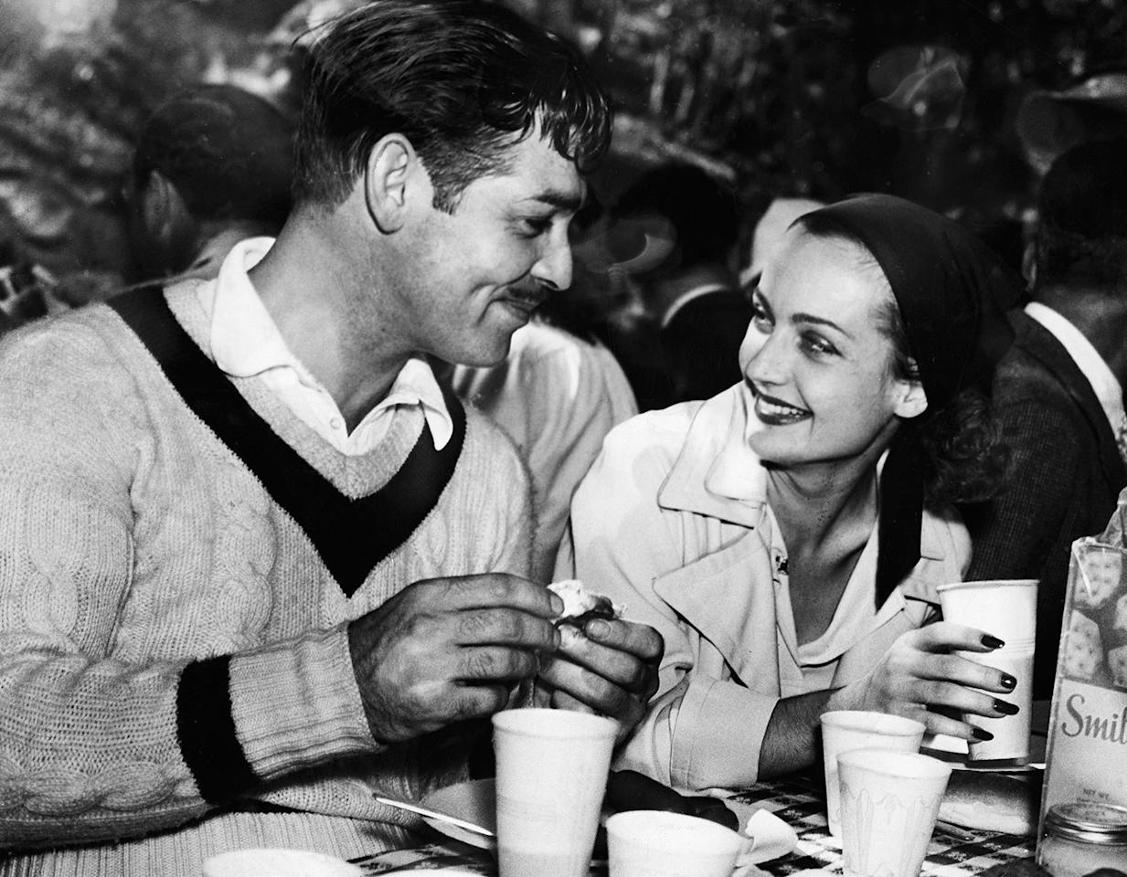 <p>A breakfast date in 1938, a little over a year before they were married.</p>