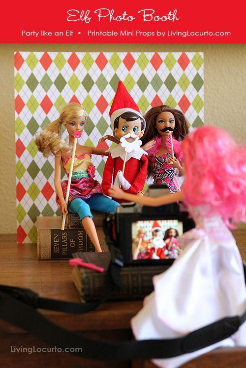 """<p>Everybody loves a photobooth! Get your elf to bring some of the other toys in on the photobooth fun — and give them some DIY props. </p><p><a href=""""http://www.livinglocurto.com/2012/11/elf-photo-booth/"""" rel=""""nofollow noopener"""" target=""""_blank"""" data-ylk=""""slk:See more at Living Locurto »"""" class=""""link rapid-noclick-resp""""><em>See more at Living Locurto »</em></a></p>"""