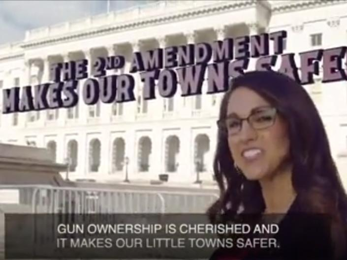 Colorado congresswoman Lauren Boebert explains why she carries a gun, in video shared to Twitter  (@LorenBoebert)
