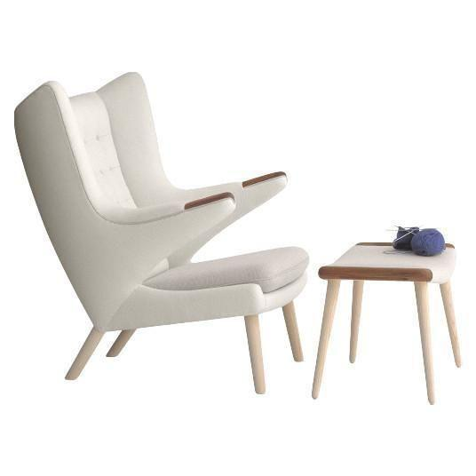 """<p><strong>Hans Wegner</strong></p><p>danishdesignstore.com</p><p><a href=""""https://www.danishdesignstore.com/products/wegner-pp19-papa-bear-chair-pp-mobler"""" rel=""""nofollow noopener"""" target=""""_blank"""" data-ylk=""""slk:Shop Now"""" class=""""link rapid-noclick-resp"""">Shop Now</a></p><p>Designed to look like its namesake animal with outstretched arms and an upwardly-curving back reminiscent of bear ears, the Papa Bear Chair is the brain child of Danish design maestro Hans Wegner. Wegner originally created it for AP Stolen Denmark, but it's currently produced by Danish manufacturer PP Møbler. </p>"""