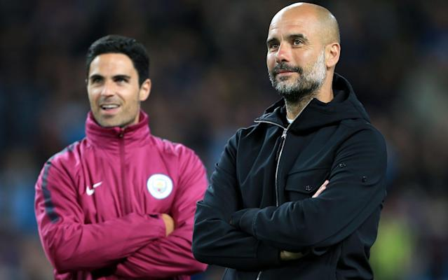 "Mikel Arteta is in line to be handed a new Manchester City contract and is already viewed within the club as a potential successor to manager Pep Guardiola, despite missing out on the Arsenal job. Guardiola was one of the first people on the phone to Arteta when news filtered through that Arsenal had performed a late U-turn and settled on Unai Emery as Arsene Wenger's successor. The former Barcelona manager had resigned himself to the fact Arteta was going to be the next Arsenal manager and had been awaiting formal confirmation. But Arsenal's change of heart means Arteta will stay at City and he is now expected to be offered a new deal after Guardiola signed a two-year extension to his contract. Guardiola already sees Arteta as a potential successor to him at City when his own contract expires in 2021 and hopes the 36-year-old will stay at his side for as long as possible in the meantime. Premier League club-by-club review Chairman Khaldoon Al-Mubarak has spoken enthusiastically over recent weeks about City's desire to build a legacy and keeping Arteta at the club is very much part of that. It has already been suggested that Arsenal could look at Arteta again when they next change manager, but City appear determined to try to hold on to him. They did not try to stand in the way of Arsenal's interest in him this time around, but now appear ready to try to convince him that he can achieve his career aims at City if he is patient. Emery is set to sign a contract with Arsenal that could run to 2021, meaning both the north London club and City could be looking towards Arteta in three years. Manchester City win the Premier League Despite his interest in a return to Arsenal, who he captained, Arteta is happy at City and is unlikely to pursue other management jobs in the near future. He could, however, start to receive more offers now that he is viewed by both City and Arsenal as a manager in waiting. Speaking about Arteta's potential departure following City's final game of the season, Guardiola said: ""What we have done this season, Mikel, his contribution was outstanding, amazing. We were together so good, all the staff, with Mikel. So if he stays I will be happiest guy in the world. If he decides to move because he has this offer, this option, I will not say you don't have to go [you can't go]."""