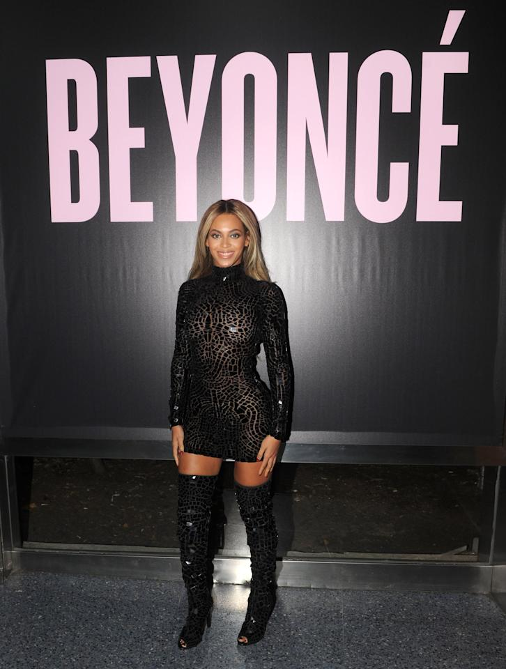 """<p>Shock waves surged through fans (and, <a href=""""https://www.popsugar.com/celebrity/Reactions-Beyonce-Surprise-Album-32980243"""" class=""""ga-track"""" data-ga-category=""""Related"""" data-ga-label=""""https://www.popsugar.com/celebrity/Reactions-Beyonce-Surprise-Album-32980243"""" data-ga-action=""""In-Line Links"""">honestly, the world</a>) when <a href=""""https://www.popsugar.com/entertainment/Beyonce-Visual-Album-Review-32981325"""" class=""""ga-track"""" data-ga-category=""""Related"""" data-ga-label=""""https://www.popsugar.com/entertainment/Beyonce-Visual-Album-Review-32981325"""" data-ga-action=""""In-Line Links"""">Beyoncé released her eponymous LP, <strong>Beyoncé</strong></a>, without any sort of warning. Prior to the drop, the biggest Beyoncé news of the year had been her documentary, <a href=""""https://www.youtube.com/watch?v=EhEnhNU3gVM&amp;feature=emb_title"""" target=""""_blank"""" class=""""ga-track"""" data-ga-category=""""Related"""" data-ga-label=""""https://www.youtube.com/watch?v=EhEnhNU3gVM&amp;feature=emb_title"""" data-ga-action=""""In-Line Links""""><strong>Life Is But a Dream</strong></a>, and her <a href=""""https://www.popsugar.com/celebrity/Beyonce-Knowles-Super-Bowl-Halftime-Show-New-Orleans-27167561"""" class=""""ga-track"""" data-ga-category=""""Related"""" data-ga-label=""""https://www.popsugar.com/celebrity/Beyonce-Knowles-Super-Bowl-Halftime-Show-New-Orleans-27167561"""" data-ga-action=""""In-Line Links"""">Super Bowl halftime show with Destiny's Child</a>. But those happenings <a href=""""https://www.popsugar.com/entertainment/photo-gallery/33063059/image/33063063/Beyonc%C3%A9-Beyonc%C3%A9"""" class=""""ga-track"""" data-ga-category=""""Related"""" data-ga-label=""""https://www.popsugar.com/entertainment/photo-gallery/33063059/image/33063063/Beyonc%C3%A9-Beyonc%C3%A9"""" data-ga-action=""""In-Line Links"""">couldn't hold a candle</a> to her <a href=""""https://open.spotify.com/album/2UJwKSBUz6rtW4QLK74kQu?si=ri46omSCSiauVeu5cX8dlA"""" target=""""_blank"""" class=""""ga-track"""" data-ga-category=""""Related"""" data-ga-label=""""https://open.spotify.com/album/2UJwKSBUz6rtW4QLK74kQu?si=ri46omSCSiauVeu5"""