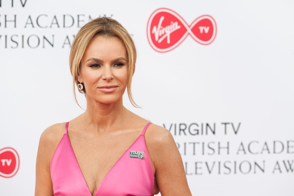 Amanda Holden attends the Virgin TV British Academy Television Awards ceremony at the Royal Festival Hall on May 13, 2018 in London, United Kingdom. (Photo credit should read Wiktor Szymanowicz / Barcroft Media via Getty Images)